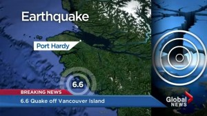 Full coverage: Earthquake hits off west coast of Vancouver Island