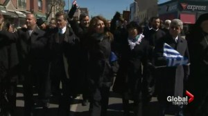 Toronto mayoral candidates attend Greek independence parade