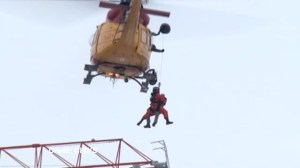New angle of dramatic crane rescue in Kingston
