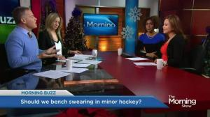 Peewee hockey coach uses foul language