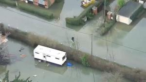 Aerial footage: Stunning scenes are swaths of UK still underwater