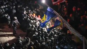 Police back off after night of tension in Ukraine