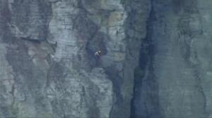 Climber rescued from North Carolina mountainside after 50-foot fall