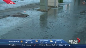 Snow melt causes concerns