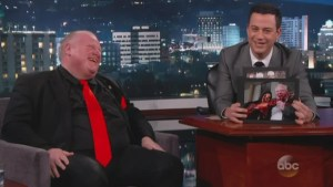 Toronto Mayor Rob Ford  on Jimmy Kimmel: Pt 1