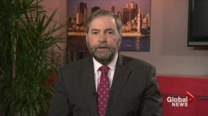 Elections reform is 'biggest fight' before 2015: Mulcair