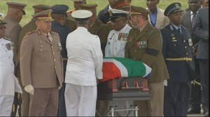 Nelson Mandela's body flown home and journeys to Qunu