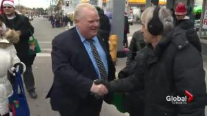 Mayor Ford attends Etobicoke Santa Claus parade