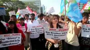 Raw video: More anti-US protests in India following arrest of diplomat