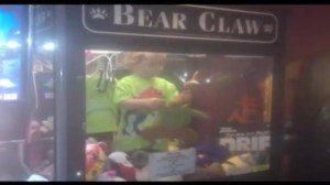 Kid safe after getting stuck inside claw vending machine