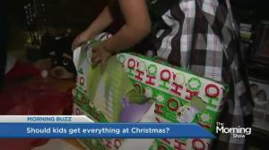 Should children get everything they ask for for Christmas?