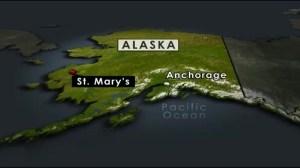Map details location of Alaska plane crash