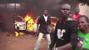 Raw: Christian mob destroys mosque in CAR capital
