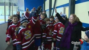 Whitby hockey team raises awareness for rare neurological disorder