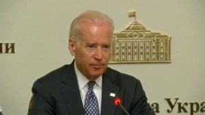 Biden visits Ukraine to bolster US support of new government