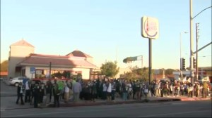 U.S. fast food workers stage nationwide protests