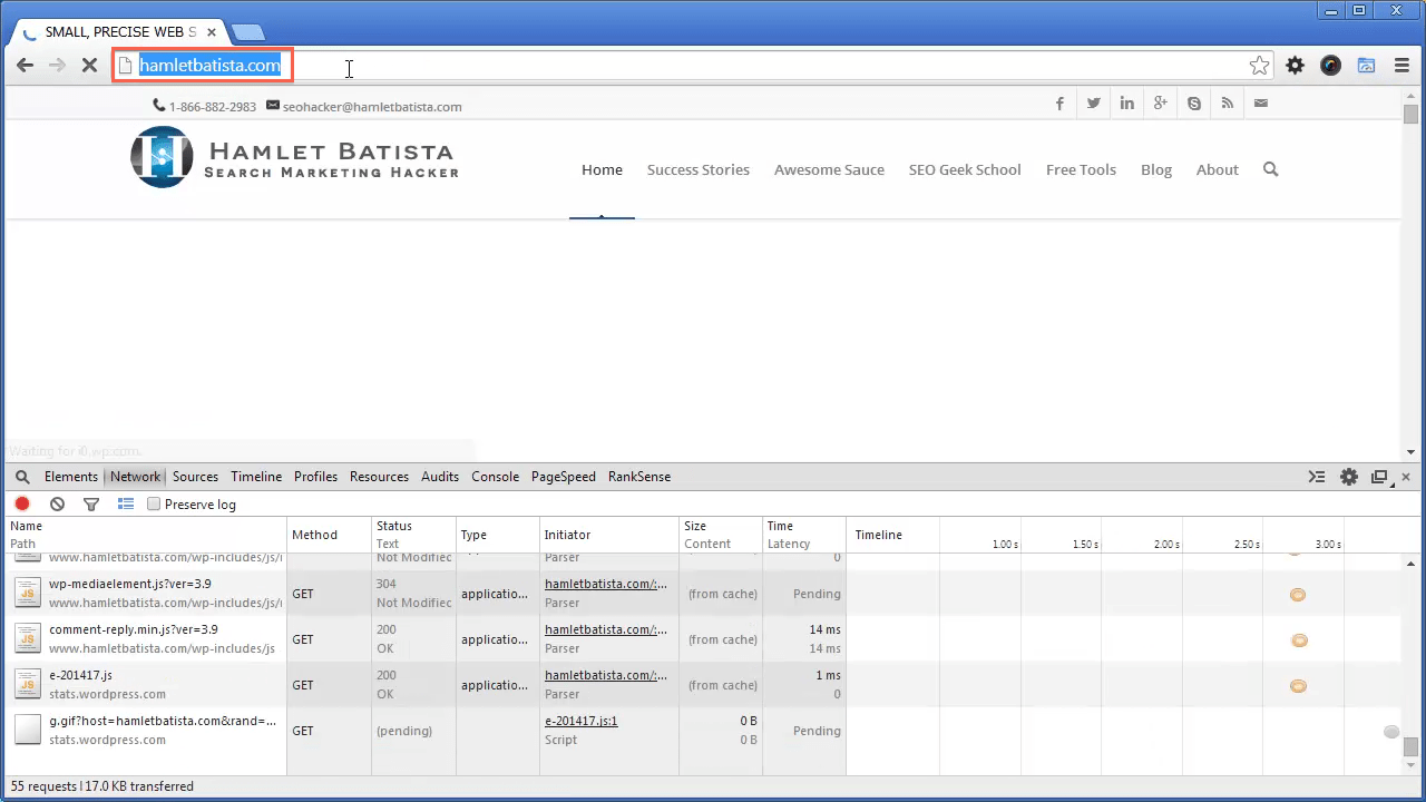 Redirect WWW to Non-WWW on Apache Step 23 - Notice URL