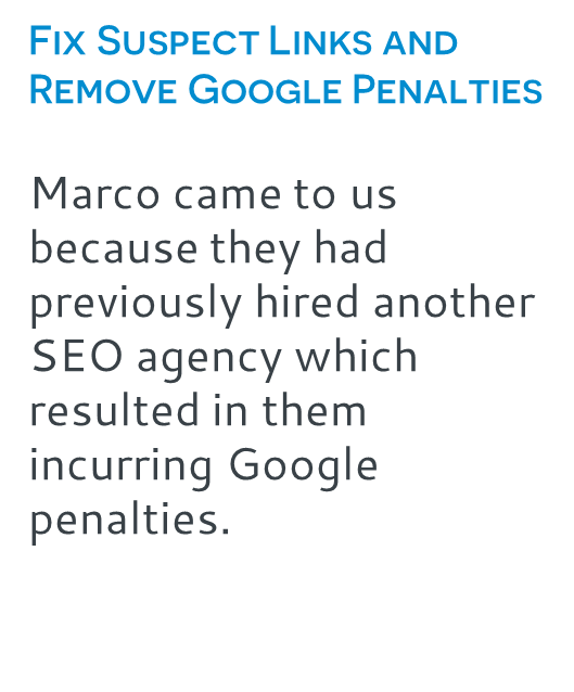 Fix Suspect Links and Remove Google Penalties