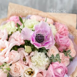 Beautiful Luxury Bouquet of Mixed Flowers in Vase the Work of The