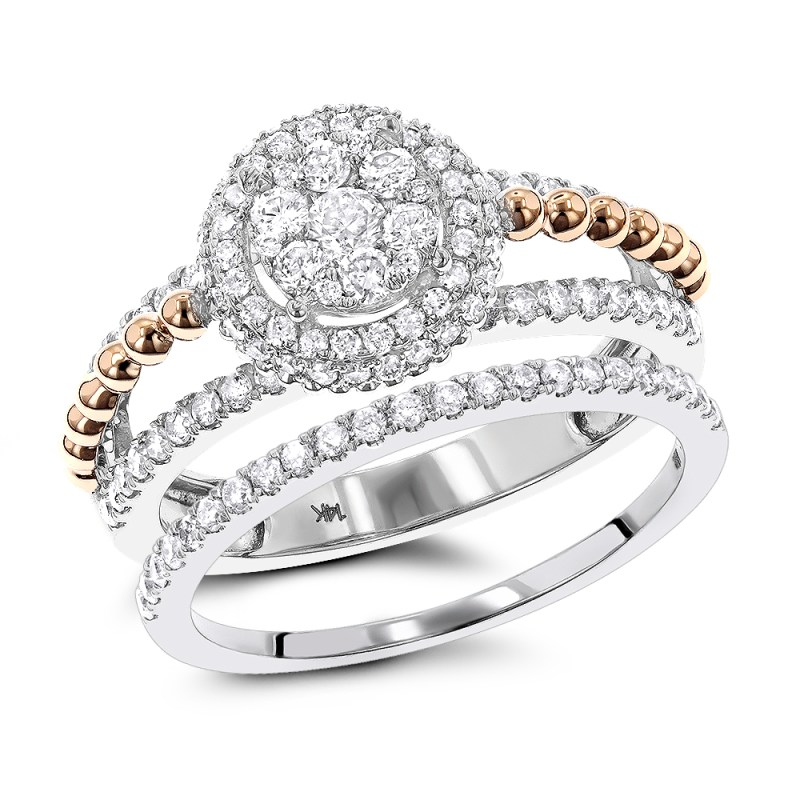 Large Of Flower Engagement Ring