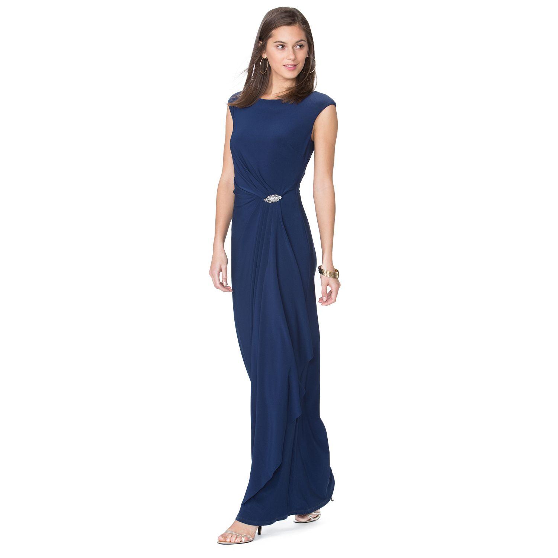 chaps embellished faux wrap evening gown womens kohls wedding dresses Women s Chaps Embellished Faux Wrap Evening Gown