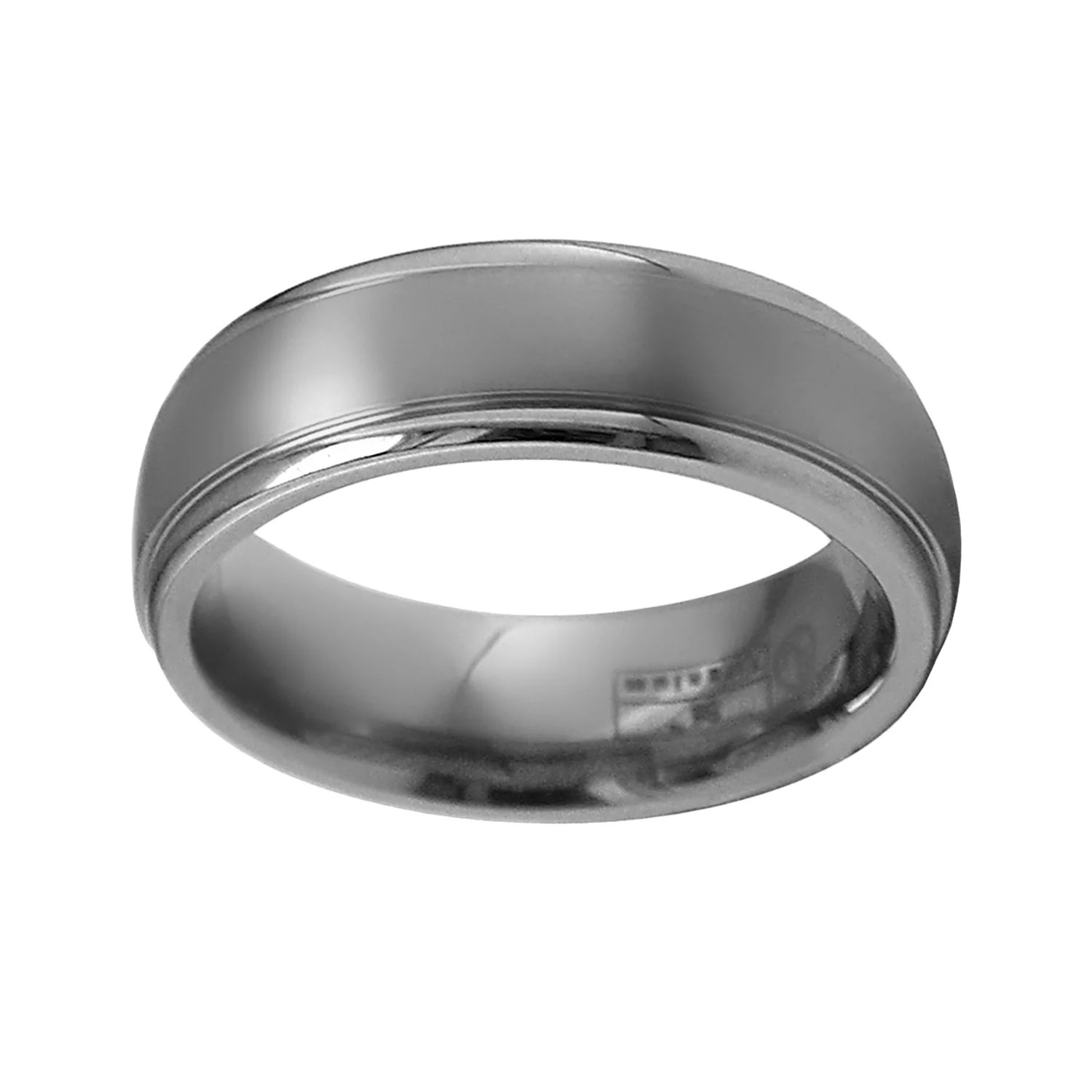 mens titanium wedding bands rings jewelry wedding bands men STI by Spectore Gray Titanium Striped Wedding Band Men