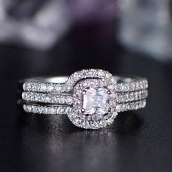 Small Crop Of Asscher Cut Engagement Rings
