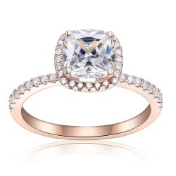 Small Of Cushion Cut Engagement Rings