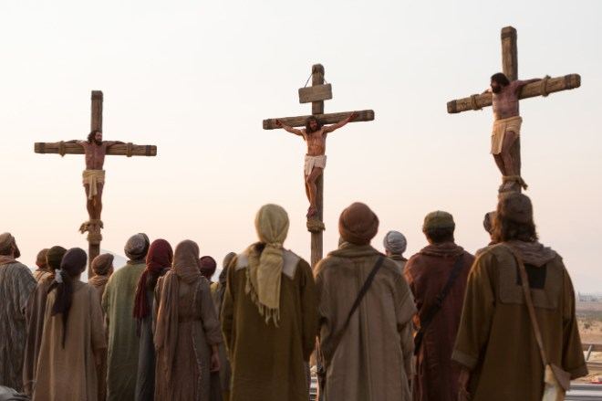 Matthew 27:26–50, Jesus on the cross