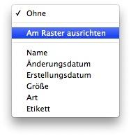 Mac OS Schreibtisch - Symbole ausrichten nach