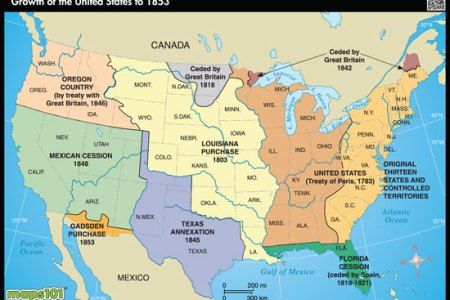 expansion of us to 1853 by maps.com from maps.com world