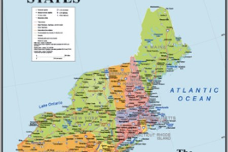 maps of new england road maps, wall maps