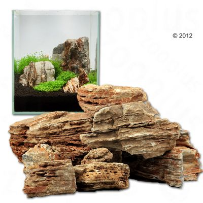Pale Pagoda Rock Canyon style   Aquarium Decoration   80 cm Set 11