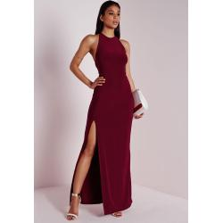 Small Crop Of Burgundy Maxi Dress