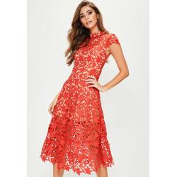 Small Crop Of Red Lace Dress