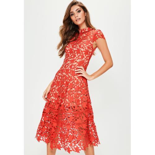 Medium Crop Of Red Lace Dress