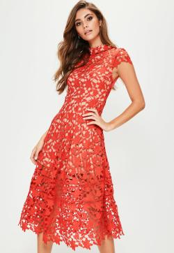 Small Of Red Lace Dress