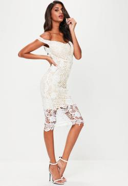 Awesome Previous Next Lace Bardot Midi Dress Missguided Lace Dresses Nordstrom Lace Dresses Target