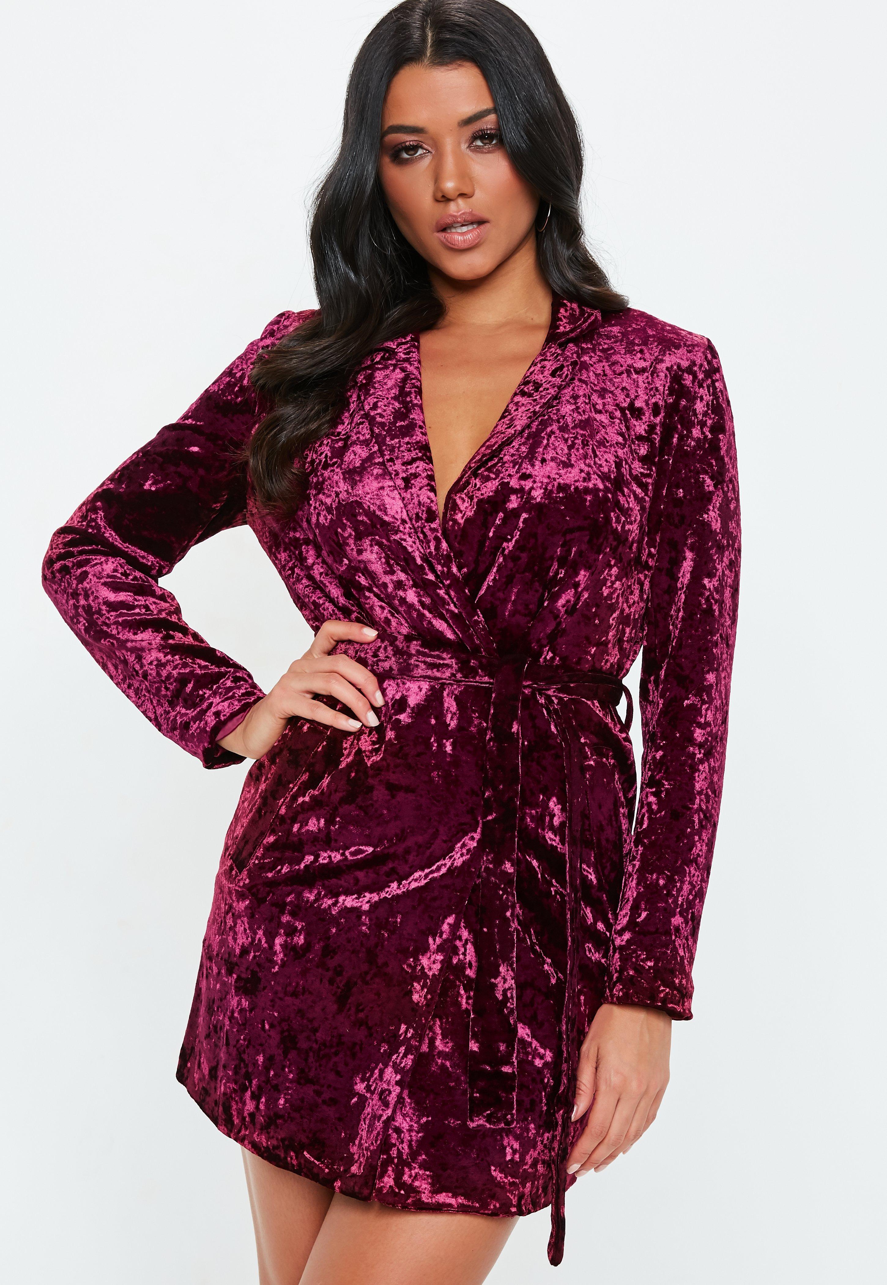 Fullsize Of Velvet Wrap Dress