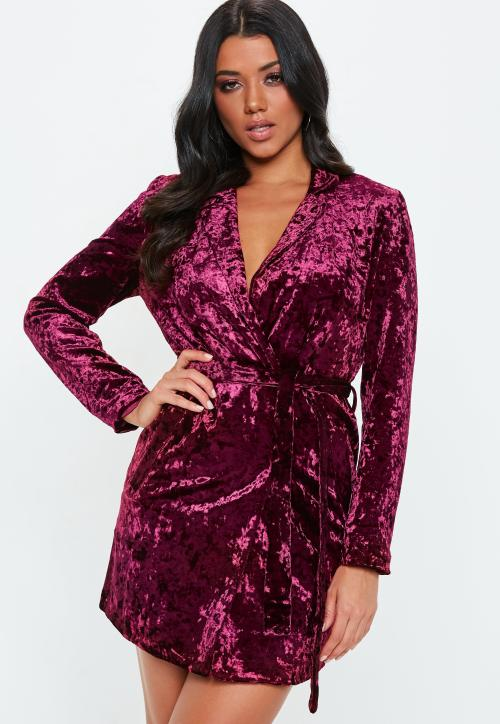 Medium Of Velvet Wrap Dress