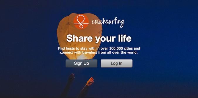 couchsurfing login