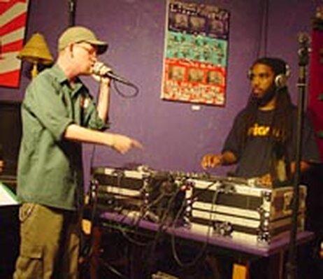 MC Rat Pack Slim and DJ Jedi perform at UnUrban Cafe