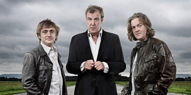 Presenters Richard Hammond (left), Jeremy Clarkson and James May are back in business with Amazon. Photo / Supplied