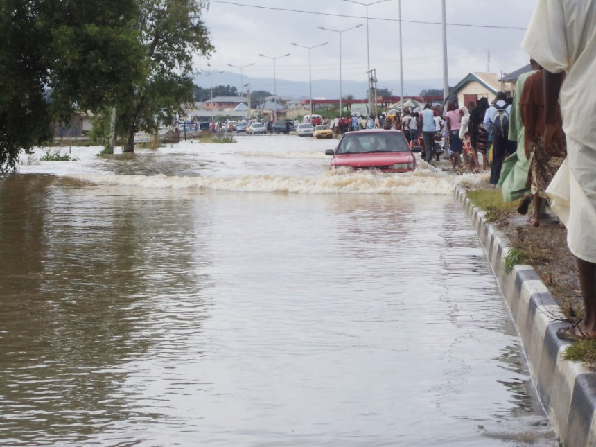 Economic activities along the Kogi-Abuja road paralysed as commuters are left stranded in flooded areas