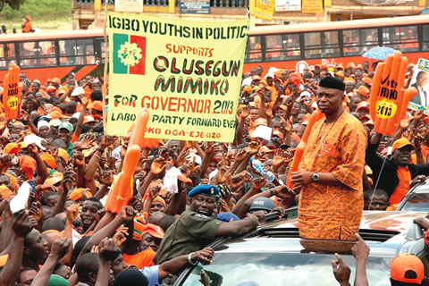 With the result of 15 out of 18 local governments released so far, Olusegun Mimiko of the Labour Party is in clear lead