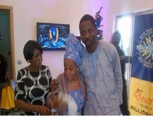 Ngozi Nwosu at WWTBAM with Oloketuyi