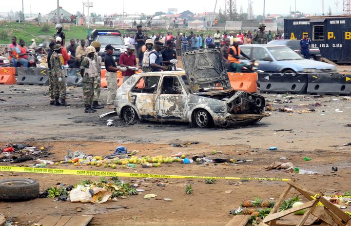 FILE PHOTO: Scene of Nyanya (Abuja) bomb blast