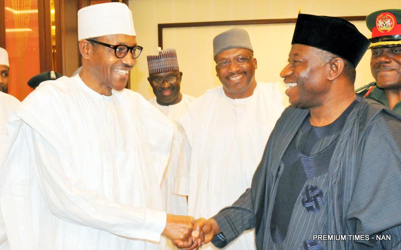 FILE PHOTO: President Muhammadu Buhari and former President Goodluck Jonathan