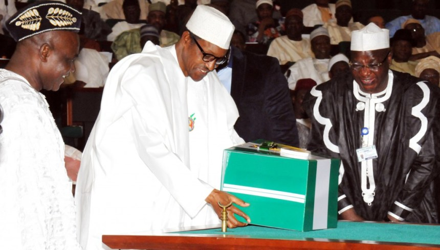 PRESIDENT BUHARI PRESENTS 2016 APPROPRATION BILL IN ABUJA