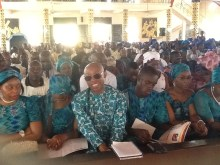 Chidi Odinkalu and his siblings at the funeral mass of their father